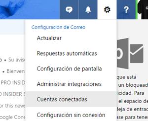 Conectar otras cuentas de correo a Outlook [2017]