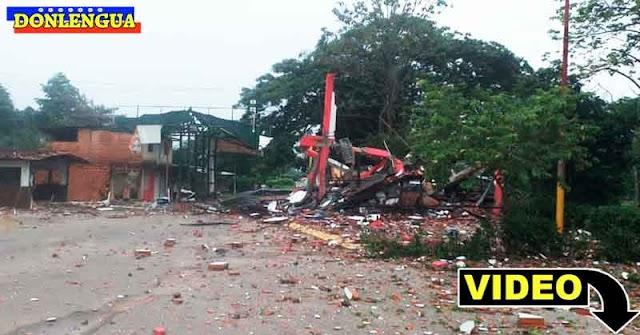 Las FARC bombardearon el SENIAT de Apure y no quedó nada en pie