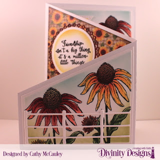 Stamp Set: Forever Friends, Paper Collections:  Follow the Sun, Fall Favorites, Custom Dies: Z Fold Card with Layers, Farm Fence, Treat Tags, Circles, Filigree Circles