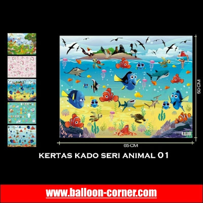 Grosir Kertas Kado Seri ANIMAL (01)