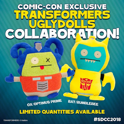 San Diego Comic-Con 2018 Exclusive Transformers Uglydolls Plush
