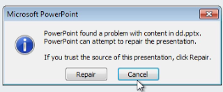 Fix Problem PowerPoint Attachment Corrupt