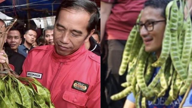 Jokowi-Sandiaga 'Bersahutan' dari Pasar