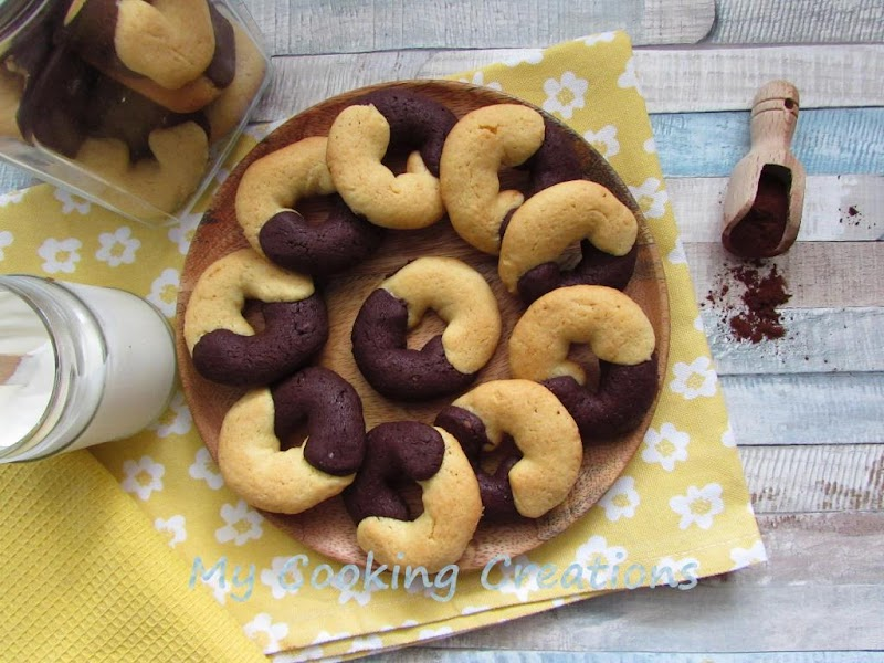 Бисквити Прегръдка с какао и сметана * Biscotti abbracci