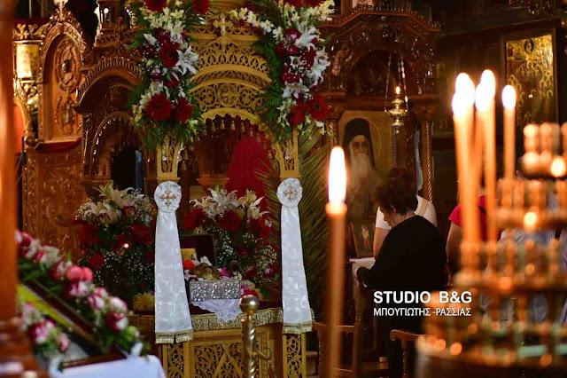 Ιερά αγρυπνία στον Μητροπολιτικό ναό του Αγίου Γεωργίου στο Ναύπλιο για τον Όσιο Δαβίδ