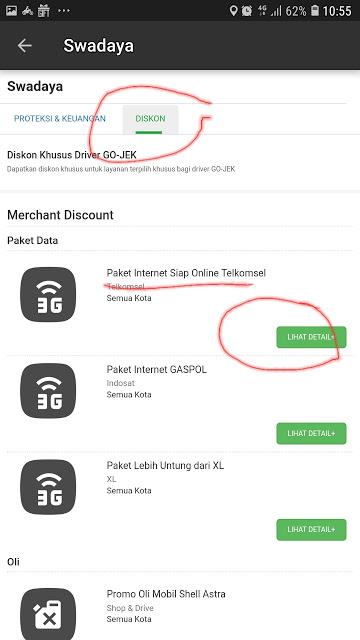 Paket Telkomsel Gojek 15GB