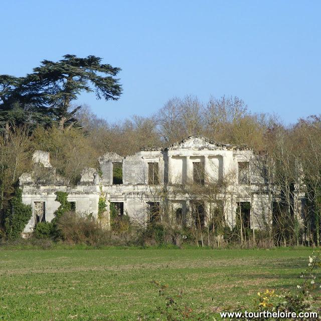 Ruined chateau de la Tourballiere, Indre et Loire, France. Photo by Loire Valley Time Travel.