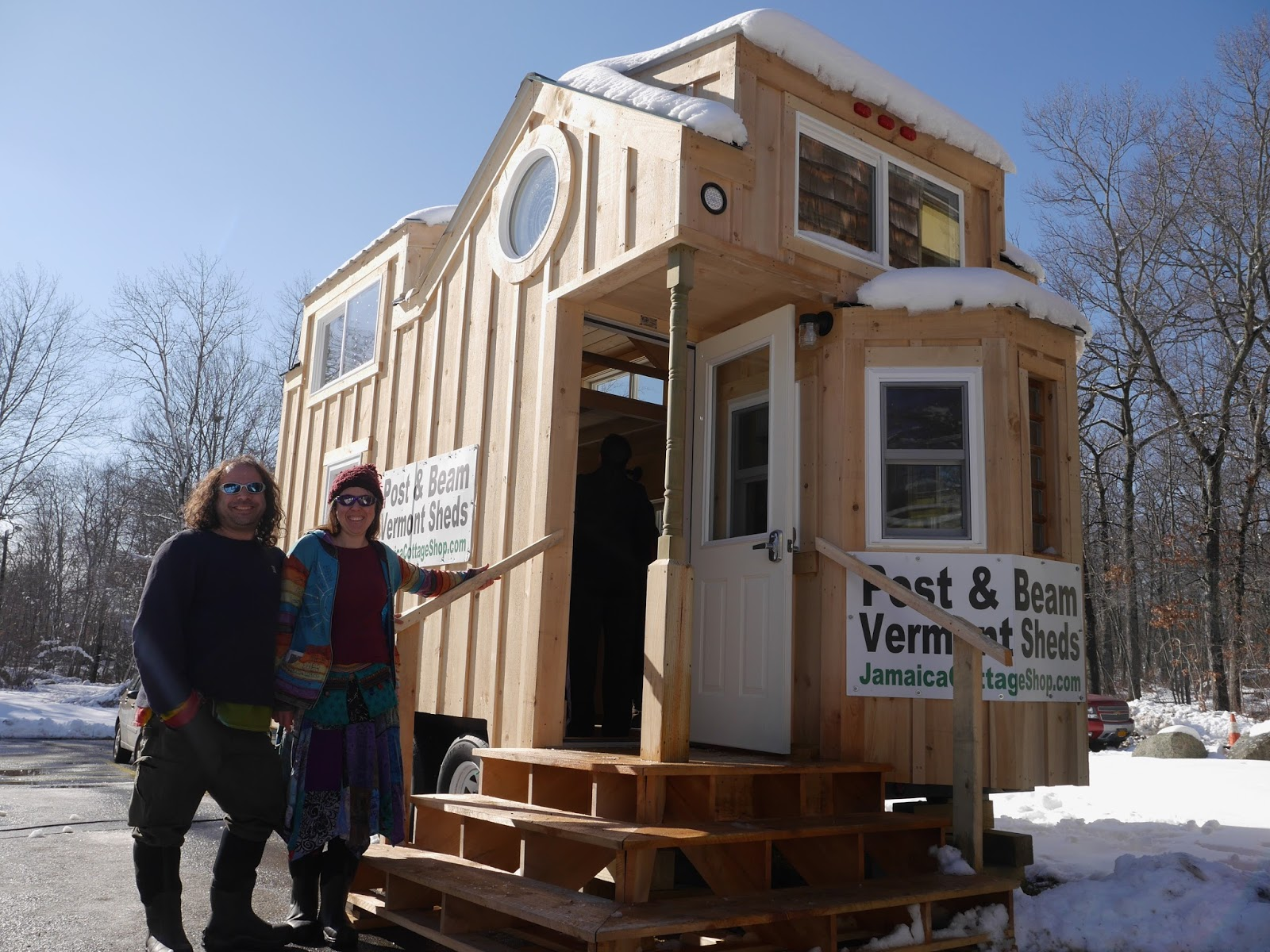 Relaxshackscom The Charlavail Rustic Solar Tiny House in Vermont