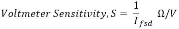 Sensitivity of Voltmeter