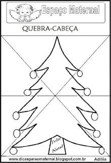Quebra-cabeça da árvore de natal