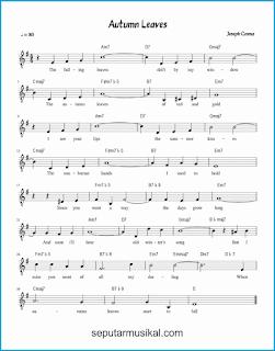 chord autumn leaves lagu jazz standar
