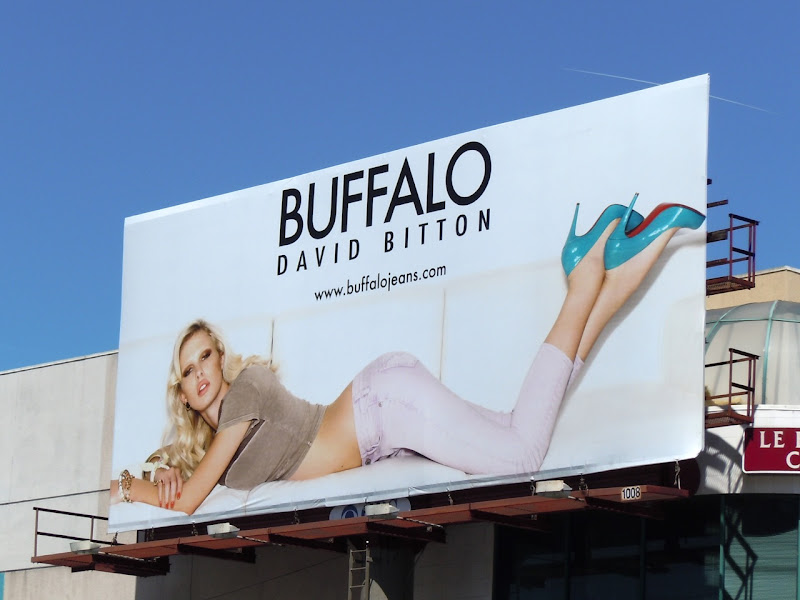 Buffalo David Bitton model billboard