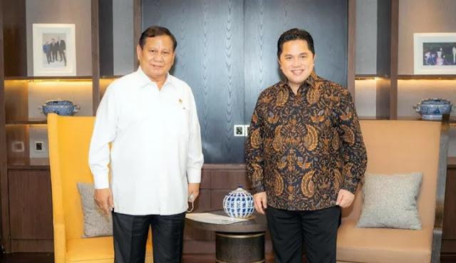Publik Jodohkan Prabowo-Erick di Pilpres 2024, Jubir Gerindra Gak Terima: Jangan...