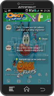 BBM Tema Oggy and the Cockroaches v.2.13.1.14 Terbaru