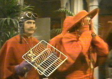 Cardinal and rack