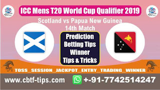 Who will win Today, ICC T20 World Cup Qualifier 2019, 14th T20 Match PNG vs SCO