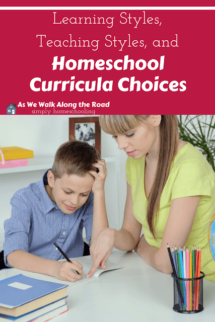 Learning styles and homeschool curricula