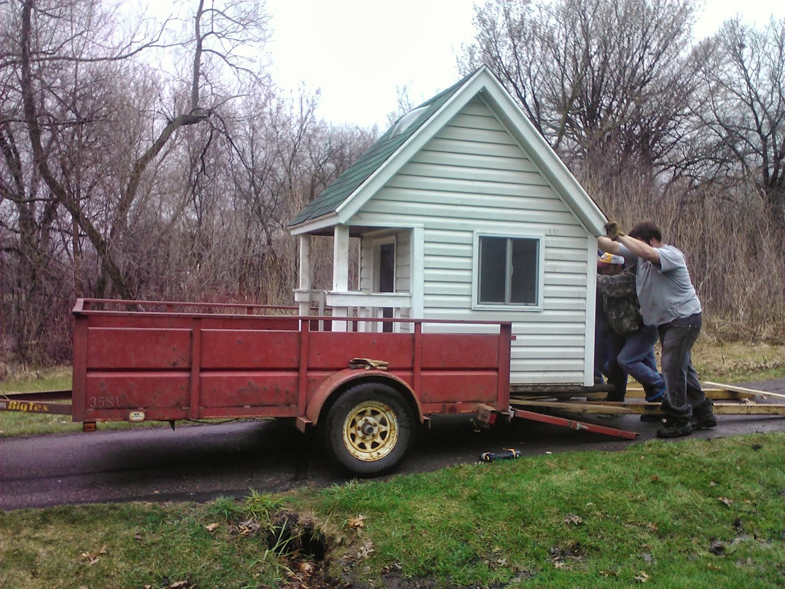 playhouse for my grandkids and foster kids being moved
