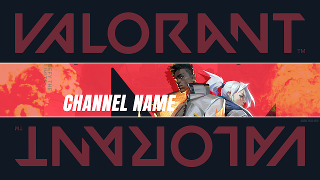 FREE YOUTUBE CHANNEL ART! VALORANT!