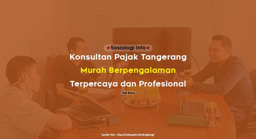 Jasa Konsultan Pajak Tangerang Murah, Berpengalaman dan Terpercaya Profesional
