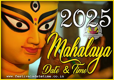 2025 Mahalaya Date and Time in India, 2025 Mahalaya Pooja Timing Schedule