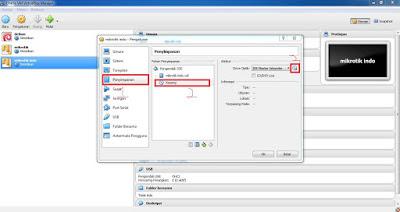 Ukuran penyimpanan mikrotik VirtualBox