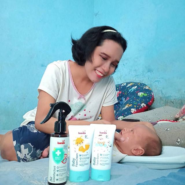 Produk perawatan bayi alami
