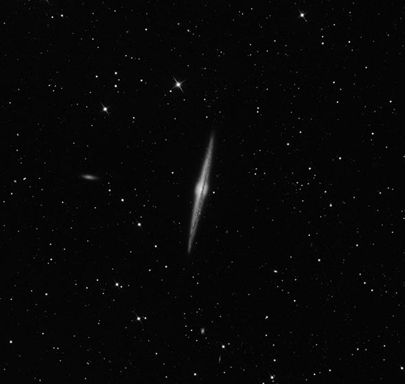 NGC 4565 Galaxy in Virgo imaged on ATEO-1 by Muir Evenden back in 2018.