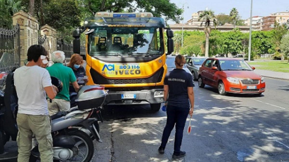 Polizia municipale piazza Roma piazza Europa