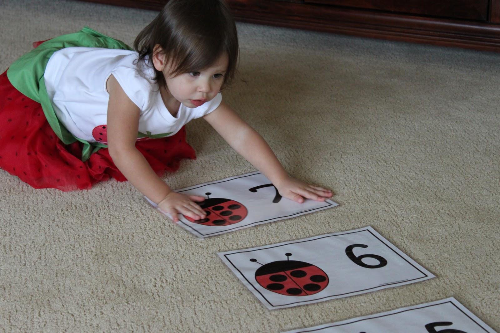 Playing House Ladybug Counting Printable