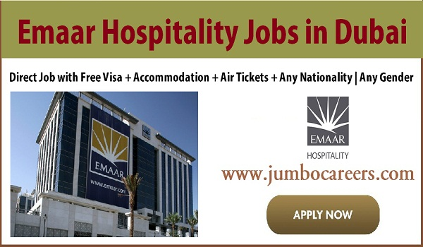 Hotel job vacancies in Gulf countries, Hospitality jobs with visa and air ticket,