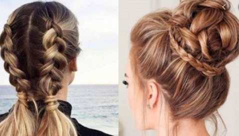 Elegant Woman Hair Binding Style
