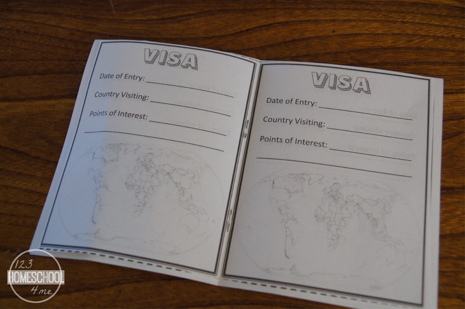 Passports for kids for Printable passport template for kids
