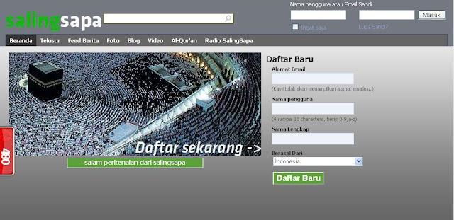 Salingsapa.com, Situs Jejaring Sosial Islami