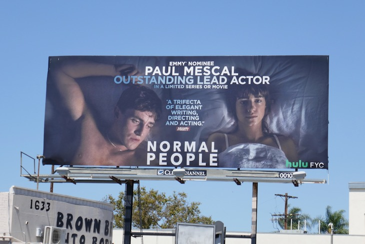 Paul Mescal Normal People 2020 Emmy billboard