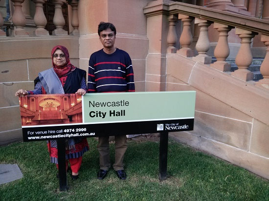 Infront of Newcastle City Hall with My Wife, Australia, 2015