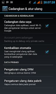 Setting Android