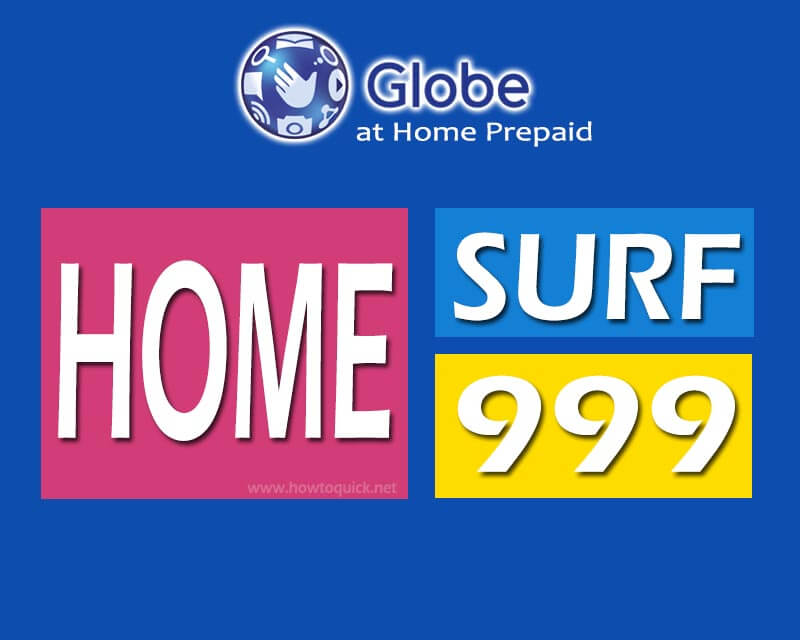 Globe HomeSurf999 – 65GB of Data for 30 days, only 999 Pesos