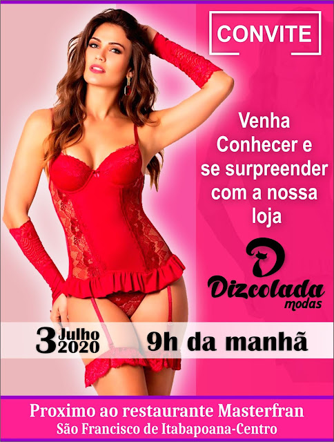 Convite digital para empresa Dizcolada modas