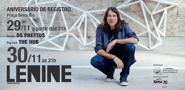 Aniversário de Registro-SP terá shows de Os Prettos, The Hub e Lenine