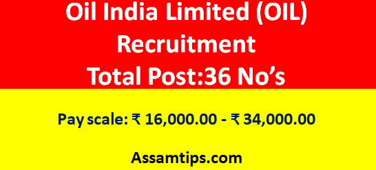 Oil India Limited(OIL) Recruitment 2020 : For 36 Operator (HMV) Vacancy
