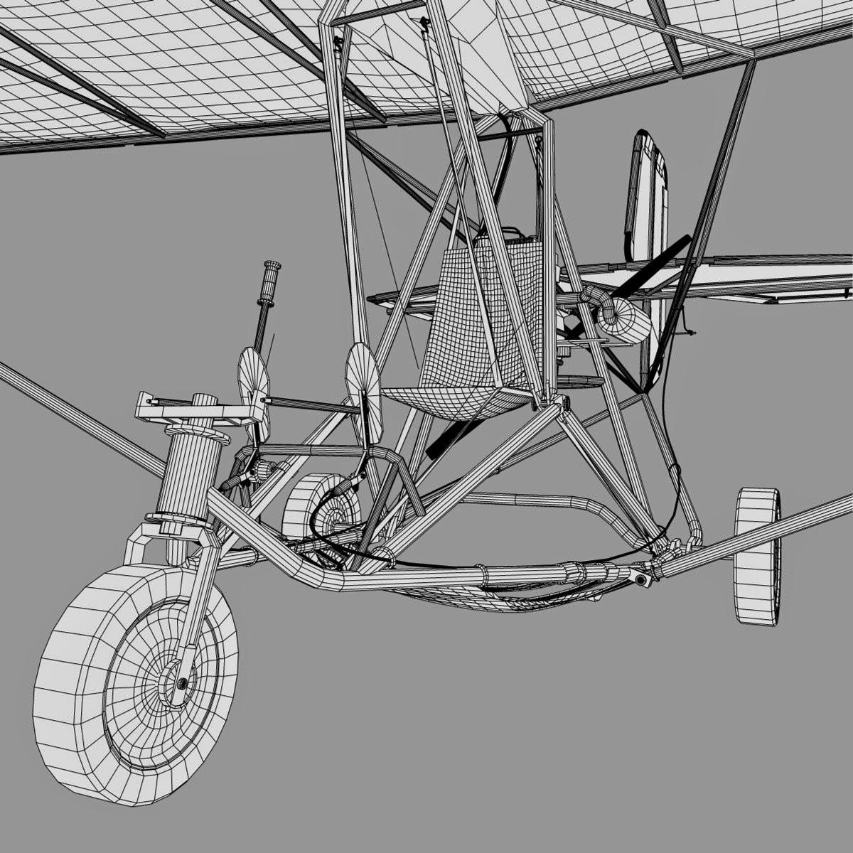 Ultralight Aircraft 3d Model