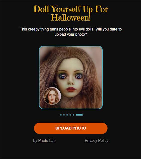 『My Evil Doll』:萬聖節鬼娃洽吉頭像產生器