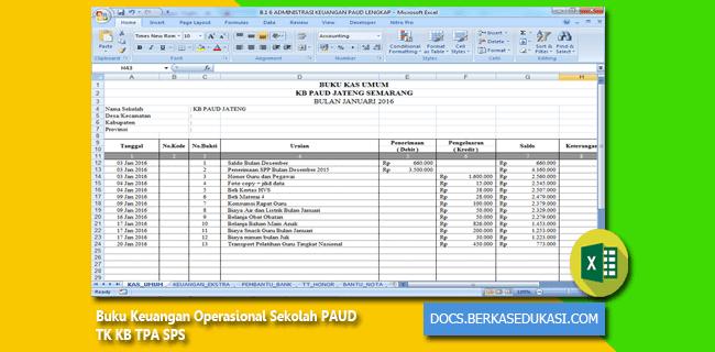 Buku Keuangan Operasional Sekolah PAUD TK KB TPA SPS