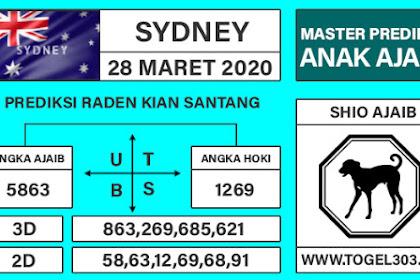 Angka Main Jitu Togel Sydney Sabtu 28 Maret 2020