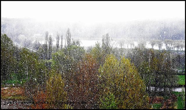 Atak zimy śnieg wielkanoc katowice zdjęcia