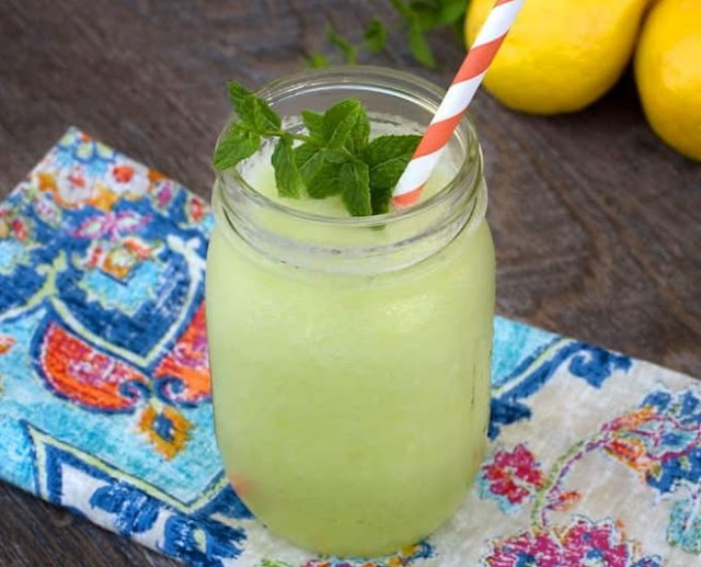 Mint & Lime Slushies #summer #drinks