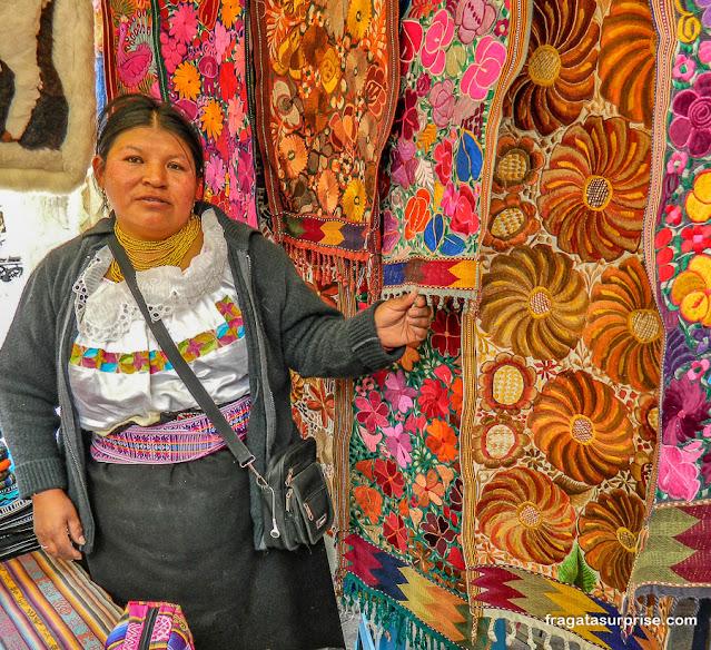 Mercado Indígena de Otavalo, Equador