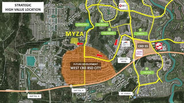 Lokasi Myza BSD