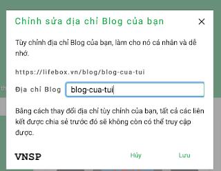 Tạo địa chỉ URL cho blog